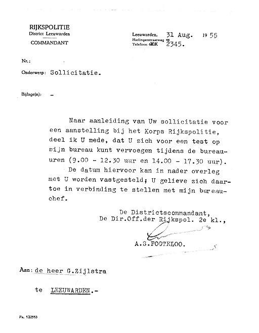 sollicitatiebrief recherche Politieloopbaan van G. (Gerben) Zijlstra sollicitatiebrief recherche